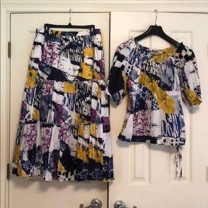 Peter Nygard skirt and top
